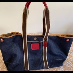 Coach large jeans tote bag